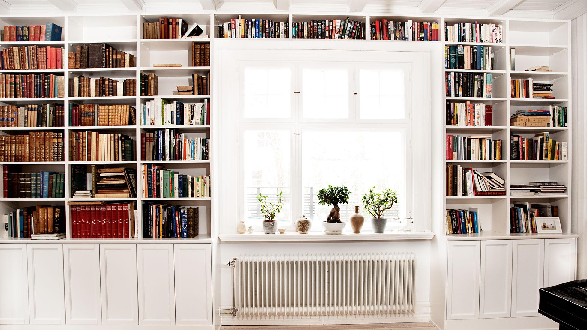 Platsbyggd bokhylla